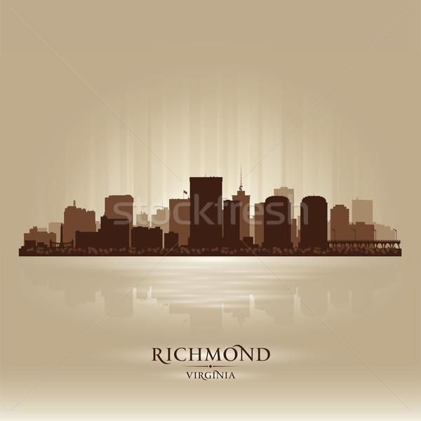 Виргиния Skyline город силуэта закат архитектура Сток-фото © Yurkaimmortal