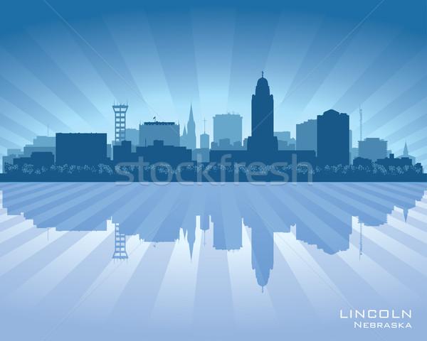 Nebraska vetor silhueta ilustração céu Foto stock © Yurkaimmortal