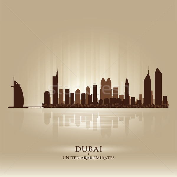 Dubai United Arab Emirates skyline city silhouette Stock photo © Yurkaimmortal