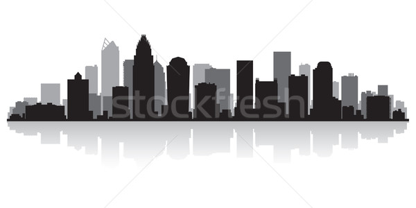 Charlotte city skyline silhouette Stock photo © Yurkaimmortal
