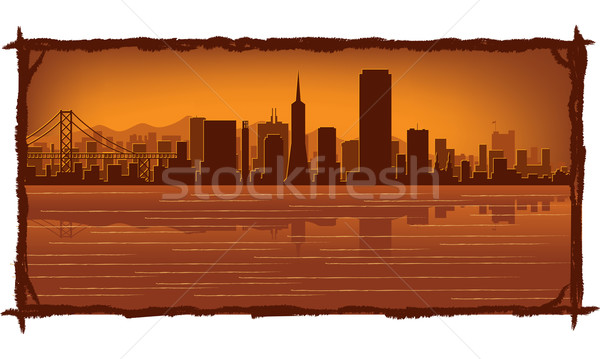 San Francisco skyline  Stock photo © Yurkaimmortal