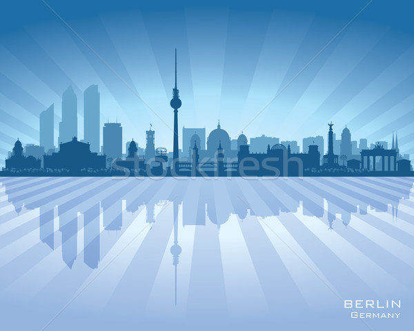 Berlin Germany city skyline vector silhouette Stock photo © Yurkaimmortal