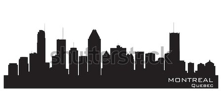 Kansas ville Missouri Skyline détaillée vecteur Photo stock © Yurkaimmortal