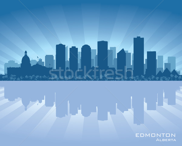 Canada Skyline réflexion eau ciel ville Photo stock © Yurkaimmortal