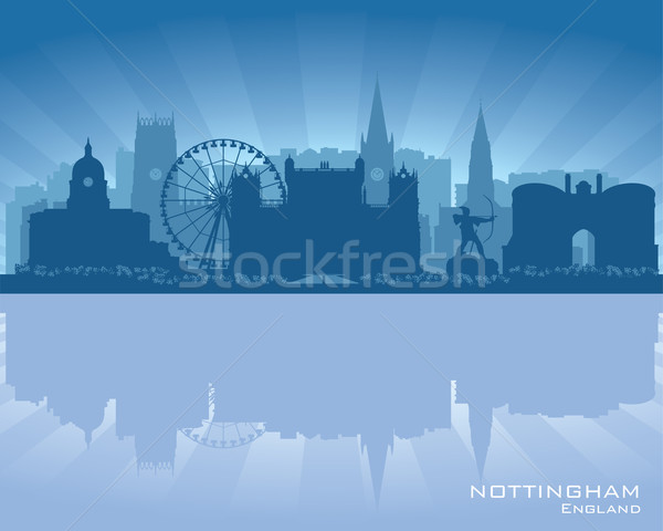 Англии Skyline отражение воды служба город Сток-фото © Yurkaimmortal