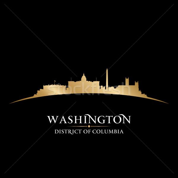 Zdjęcia stock: Washington · DC · sylwetka · czarny · niebo · budynku