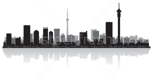 Vector silhouet business gebouw achtergrond Stockfoto © Yurkaimmortal