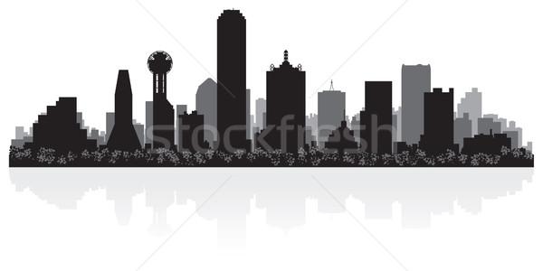 Dallas silueta EUA negocios edificio Foto stock © Yurkaimmortal
