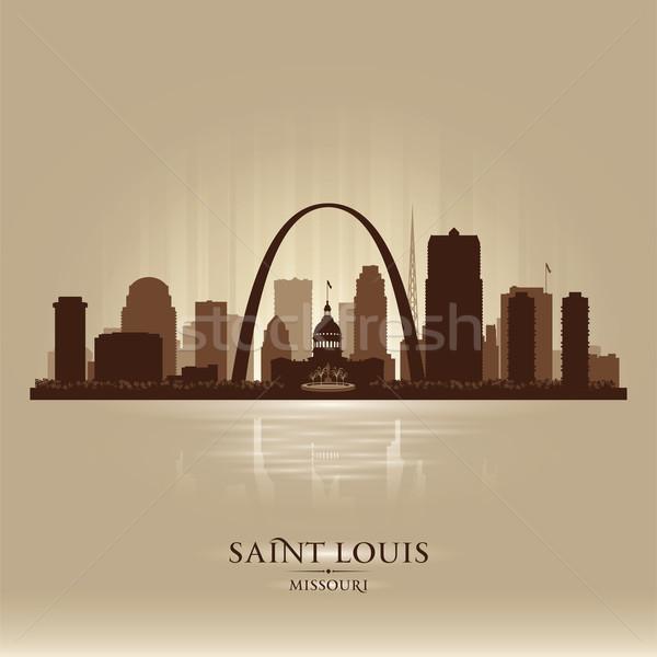 Saint Louis Missouri city skyline silhouette  Stock photo © Yurkaimmortal