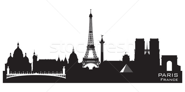 Paris France city skyline vector silhouette Stock photo © Yurkaimmortal