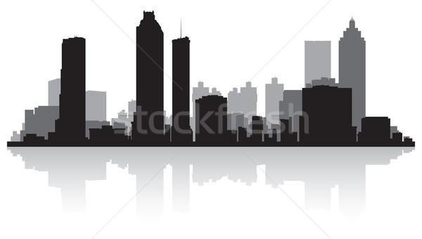 Atlanta silhouet USA business gebouw Stockfoto © Yurkaimmortal