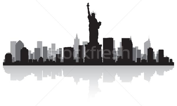 ニューヨーク市 スカイライン シルエット ニューヨーク 米国 ストックフォト © Yurkaimmortal