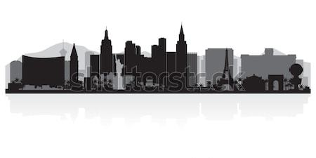 Birmingham Angleterre Skyline détaillée vecteur silhouette Photo stock © Yurkaimmortal