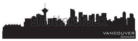 Vancouver, Canada skyline. Detailed vector silhouette Stock photo © Yurkaimmortal