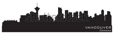 Vancouver Kanada ufuk çizgisi ayrıntılı vektör siluet Stok fotoğraf © Yurkaimmortal