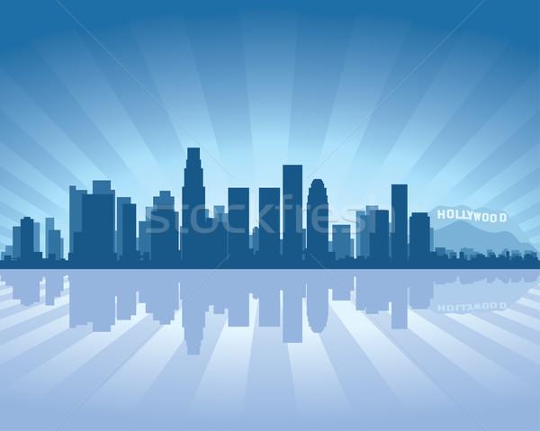 Los Angeles skyline reflectie water hemel gebouw Stockfoto © Yurkaimmortal