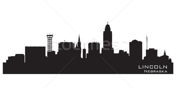 Lincoln Nebraska city skyline vector silhouette Stock photo © Yurkaimmortal