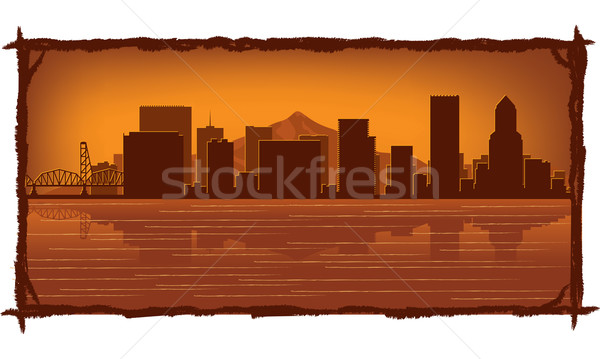 Portland skyline  Stock photo © Yurkaimmortal