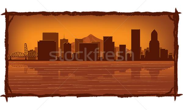 Portland skyline  Stock photo © Yurkaimmortal