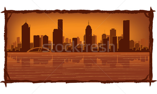 Melbourne Australia skyline Stock photo © Yurkaimmortal