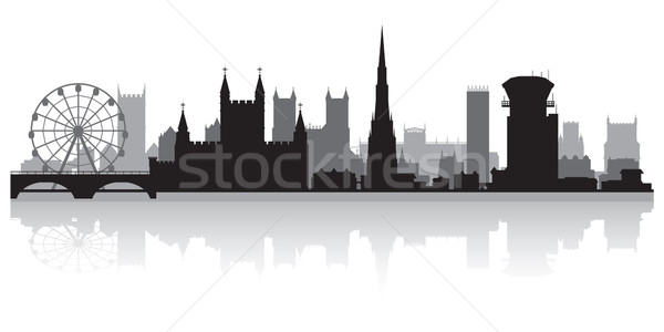 Bristol city skyline silhouette  Stock photo © Yurkaimmortal