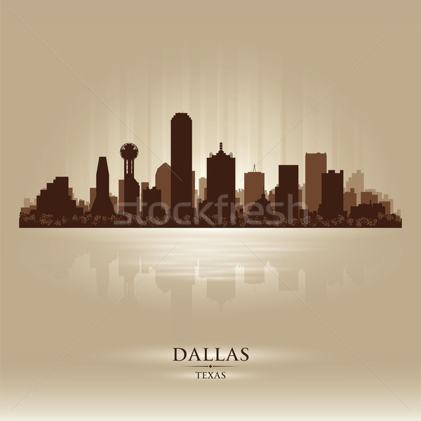 Dallas Texas skyline stad silhouet hemel Stockfoto © Yurkaimmortal