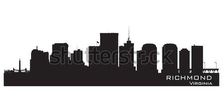 Virginia skyline gedetailleerd stad silhouet gebouw Stockfoto © Yurkaimmortal