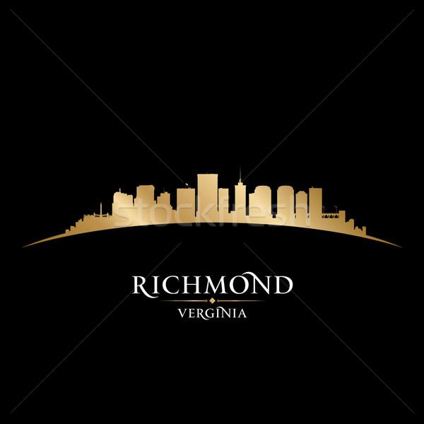 Virginie ville silhouette noir ciel Photo stock © Yurkaimmortal