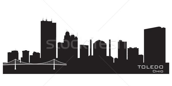 Toledo Ohio city skyline vector silhouette Stock photo © Yurkaimmortal