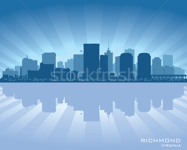 Virginie Skyline ville silhouette bâtiment fond Photo stock © Yurkaimmortal