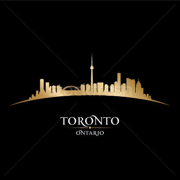 Toronto ontario Canada silhouette noir Photo stock © Yurkaimmortal