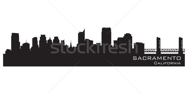 Photo stock: Californie · Skyline · détaillée · vecteur · silhouette · bâtiment