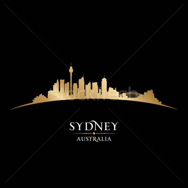Sydney Australia silueta negro edificio Foto stock © Yurkaimmortal