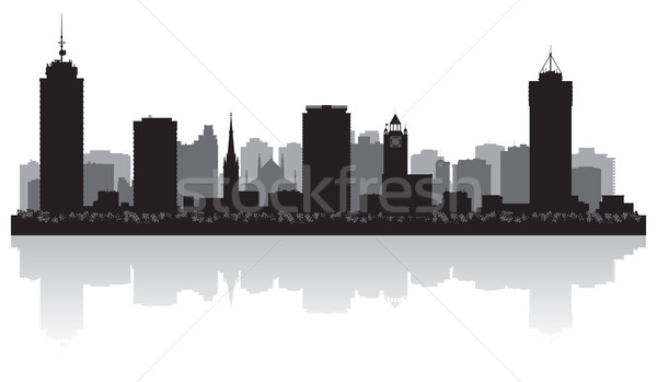 Hamilton Canada city skyline vector silhouette  Stock photo © Yurkaimmortal