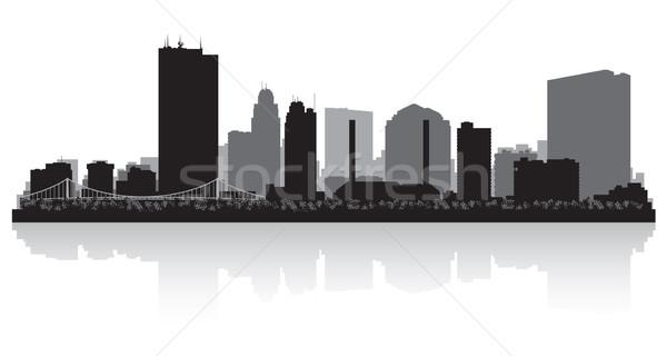 Ohio városkép sziluett vektor illusztráció üzlet Stock fotó © Yurkaimmortal