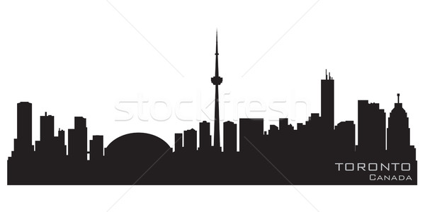 Toronto Canada Skyline détaillée vecteur silhouette Photo stock © Yurkaimmortal