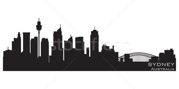 Sydney Australie Skyline détaillée vecteur silhouette Photo stock © Yurkaimmortal
