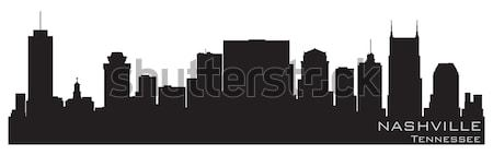 Minneapolis, Minnesota skyline. Detailed vector silhouette Stock photo © Yurkaimmortal