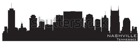 Stock photo: Minneapolis, Minnesota skyline. Detailed vector silhouette