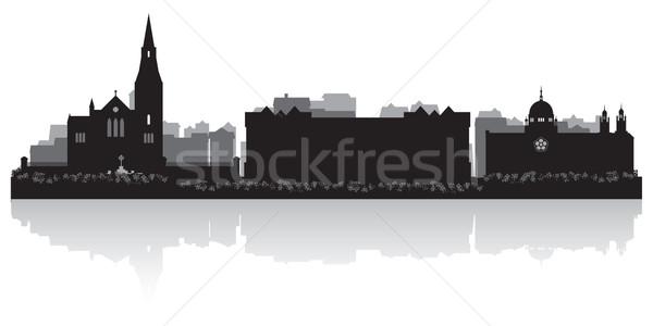 ベクトル シルエット ビジネス 建物 背景 ストックフォト © Yurkaimmortal