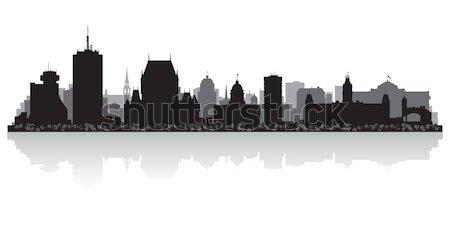 Quebec Canada city skyline vector silhouette  Stock photo © Yurkaimmortal