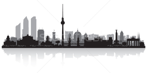 Berlin Germany city skyline silhouette Stock photo © Yurkaimmortal