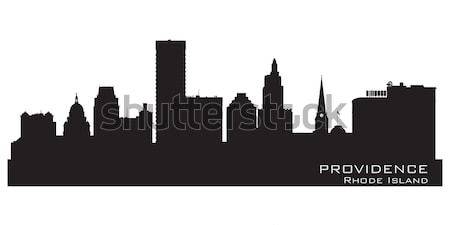 Liverpool inglaterra linha do horizonte detalhado vetor silhueta Foto stock © Yurkaimmortal