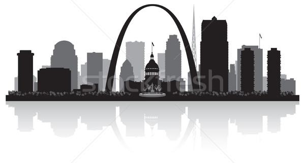 Szent Missouri városkép sziluett vektor illusztráció Stock fotó © Yurkaimmortal