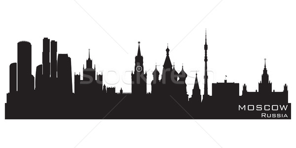 Stock photo: Moscow, Russia skyline. Detailed vector silhouette