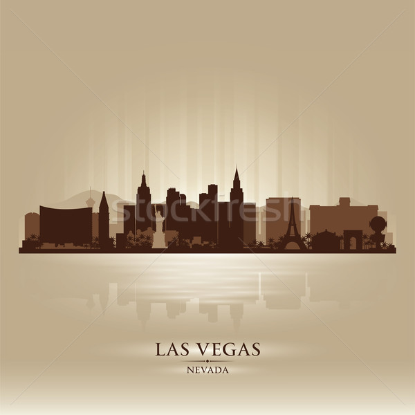 Las Vegas, Nevada skyline city silhouette Stock photo © Yurkaimmortal