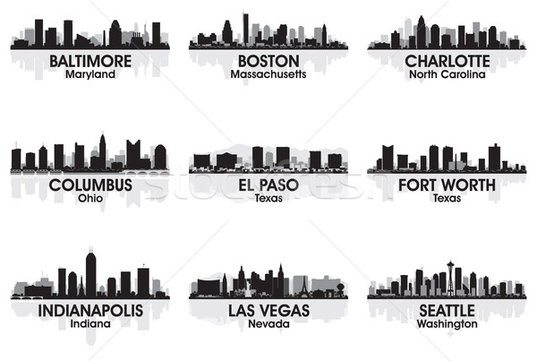 American cities skyline 2 Stock photo © Yurkaimmortal