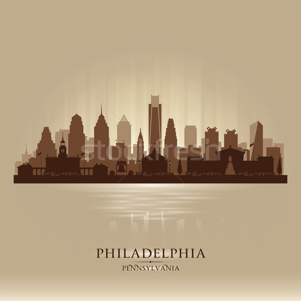 Philadelphia Pennsylvania vector silhouet illustratie Stockfoto © Yurkaimmortal