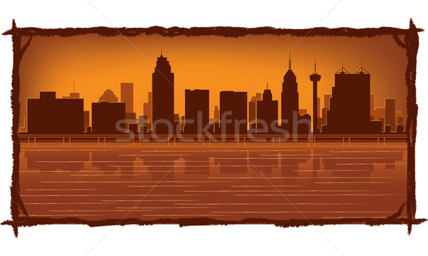 San Antonio skyline  Stock photo © Yurkaimmortal