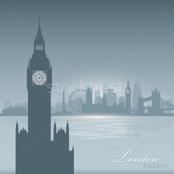 Photo stock: Londres · Angleterre · Skyline · ville · silhouette · ciel